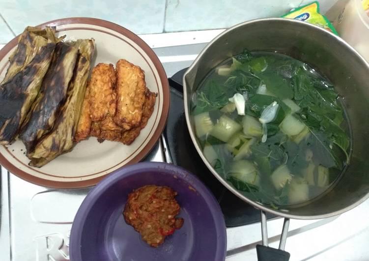 Sayur Bening Bayam Krai no ribet