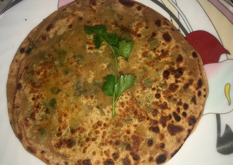 Step-by-Step Guide to Make Quick Breakfast recipe Peas Paratha