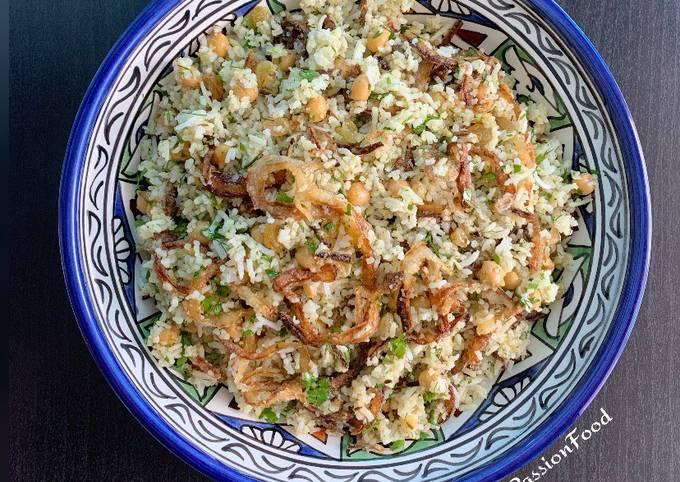 Riz sauvage & basmati avec pois chiches, raisins secs et herbes  Ottolenghi @4PassionFood #healthy