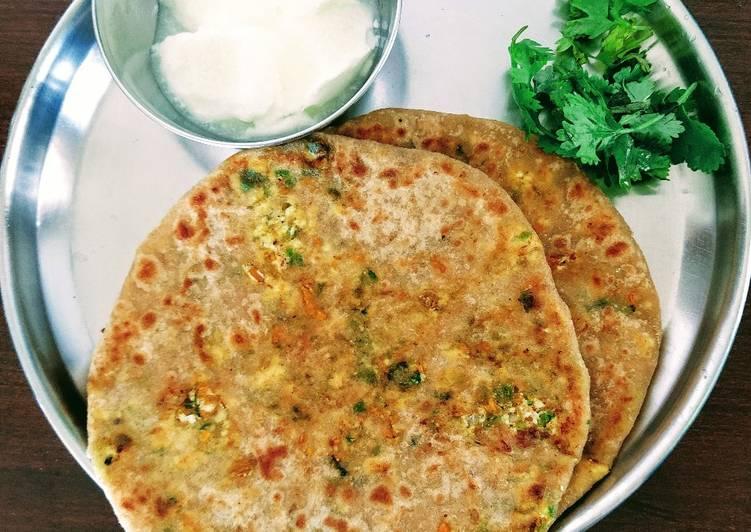 Paneer veggie stuffed paratha