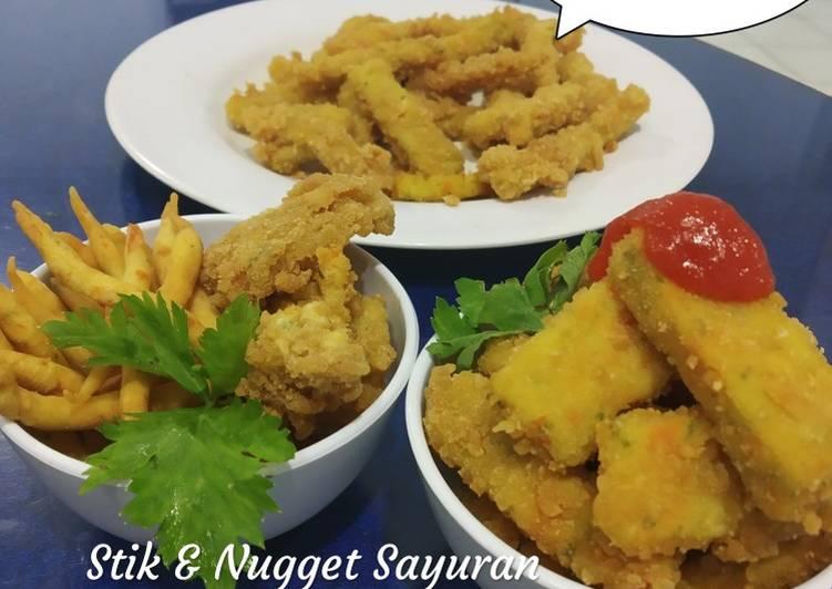 Stik & nugget Sayuran (2 in one)/ Cemilan Anak Sehat
