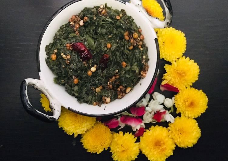 Thotakura allam karam/Amaranth leaves curry cooked in milk #greenveg