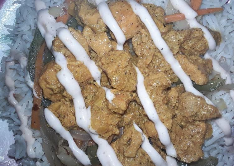 Chicken bbq rice