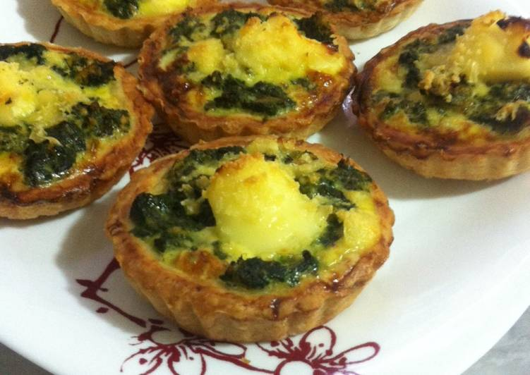 Spinach mini quiches !