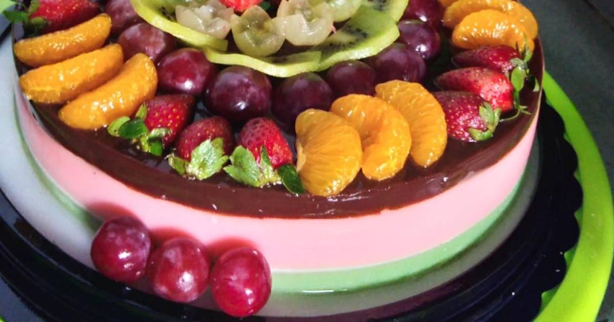 Resep Puding buah tart ultah oleh Dewi Bilqis - Cookpad