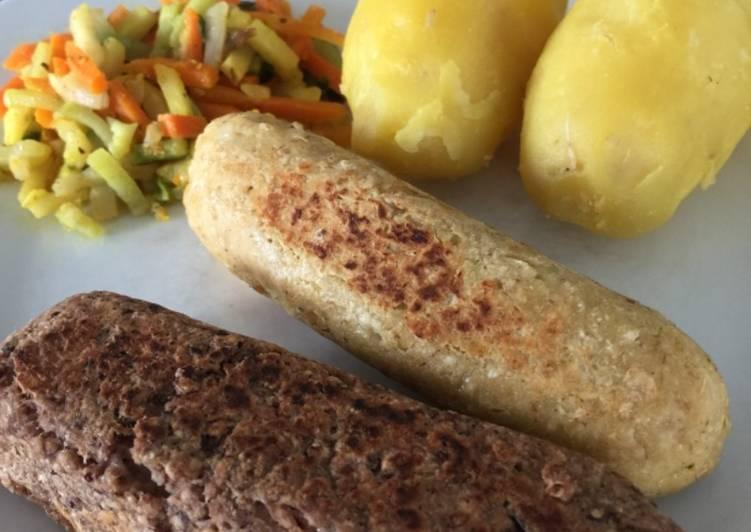 Saucisse De pois Chiche ou haricots rouges