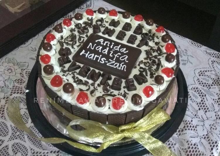 Resep Kue Ulang Tahun Base Cake Brownies Ala Amanda Oleh