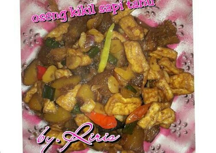 Oseng kikil sapi tahu - cookandrecipe.com