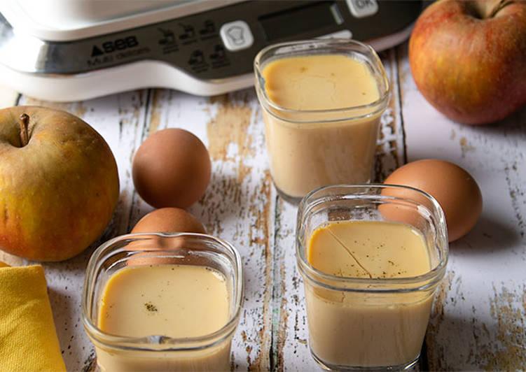 Recettes Crème aux oeufs et à la pomme