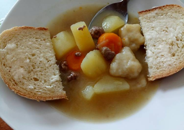 My Gran's Irish Stew And Dumplings
