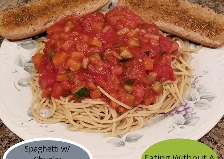 Spaghetti w/ Chunky Vegetable Sauce