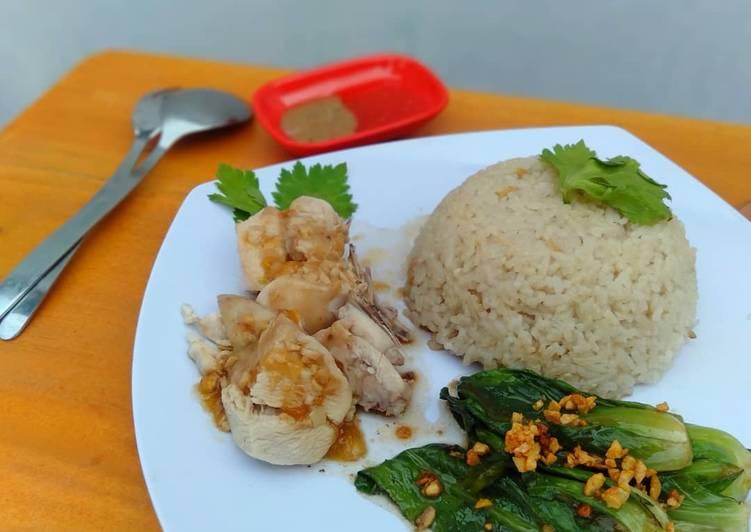 Nasi ayam hainan (halal)