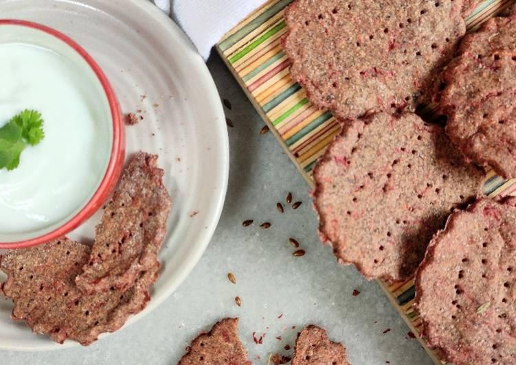 Simple Way to Prepare Quick Multigrain beetroot crackers