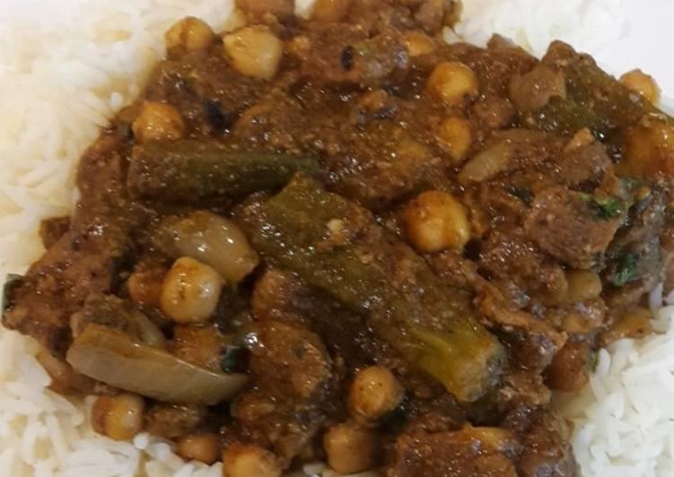 Friday Fresh Spiced Bhindi(Okura) and chickpea Curry(V,GF)
