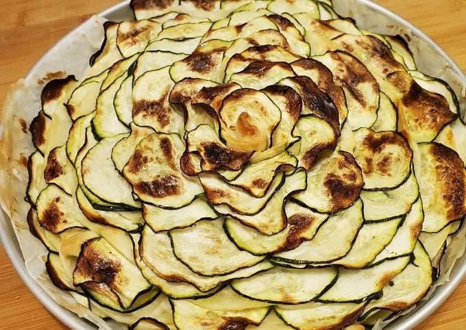 Fiore di pasta sfoglia e zucchine