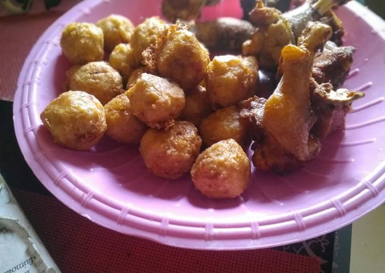 10 Minute Recipe of Vegan Yam balls