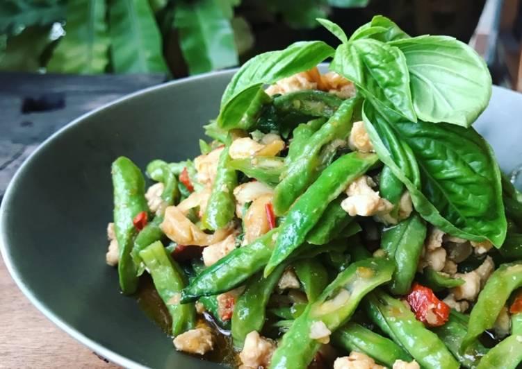 Kacang Panjang Tumis Ala Thai