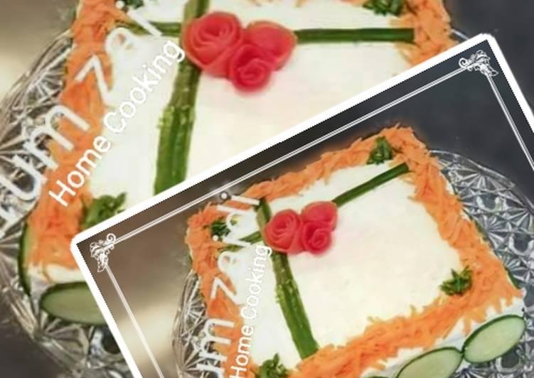 Recipe of Homemade 🎂🎂 Bread Sandwich Cake 🎂🎂