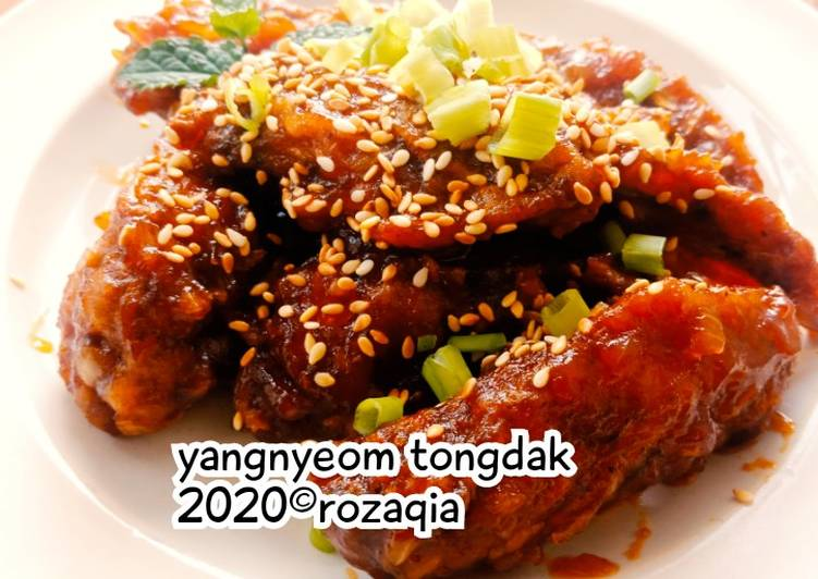 Yangnyeom Tongdak/ayam goreng korea berbumbu