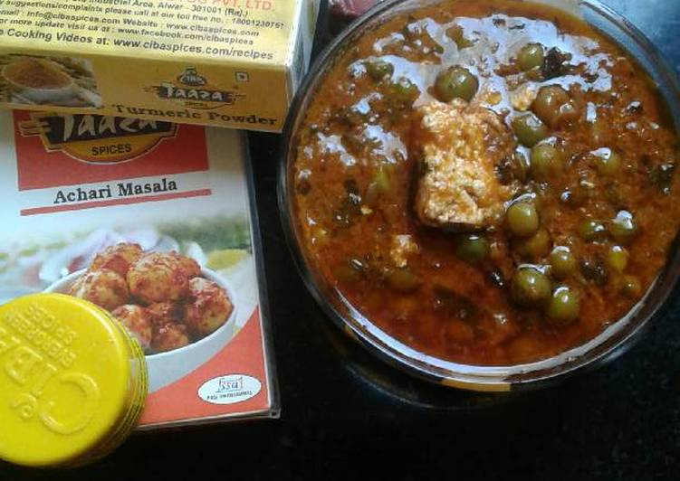 Achari matar paneer Choosing Fast Food That's Fine For You