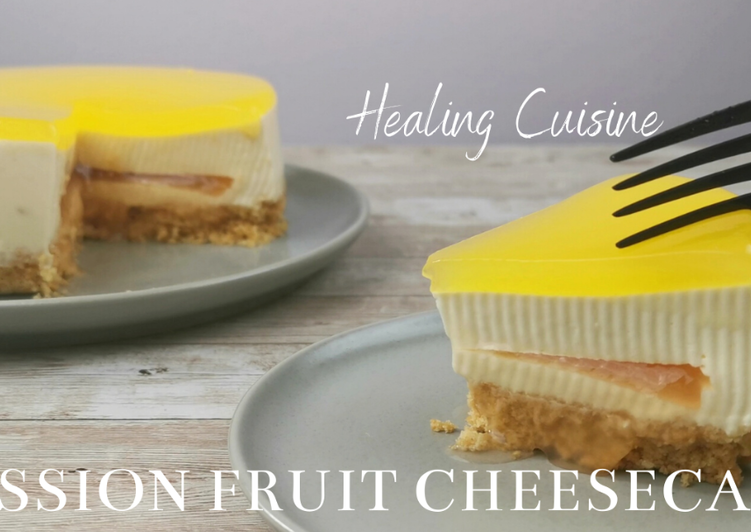 Step-by-Step Guide to Make Perfect No-Bake Grapefruit Passion Fruit Cheesecake