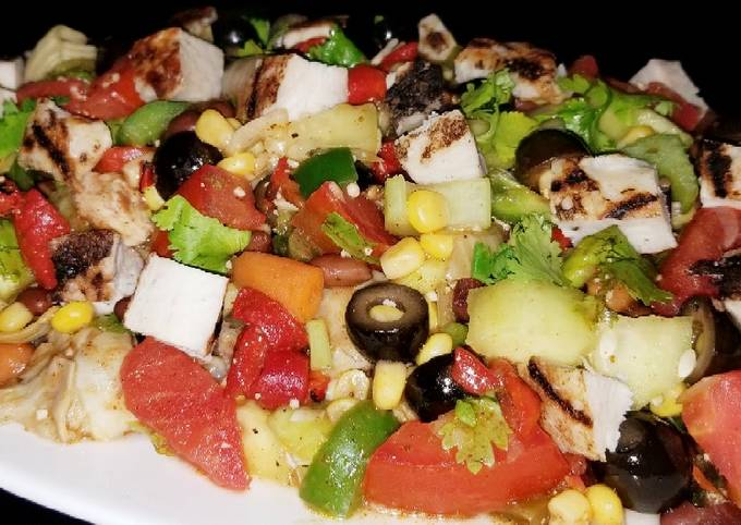 Recipe Of Homemade Mike S Mexican Grilled Chicken Salad Chicken Recipes Cg