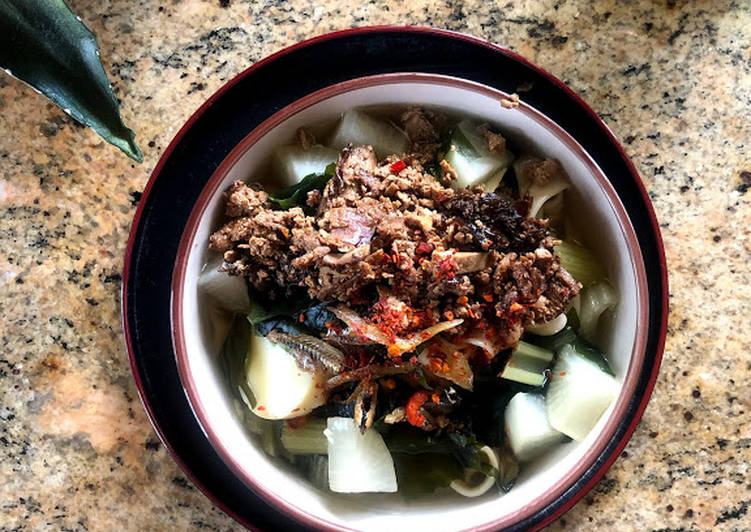 Pan Mee with Tofu Soy Topping #WYH