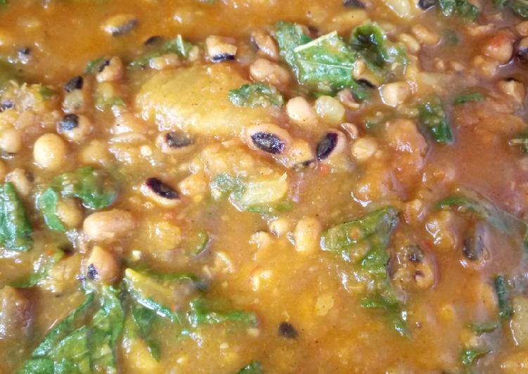 Sweet potato and beans porridge