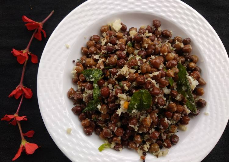 Step-by-Step Guide to Make Top-Rated Black chana in coconut (Kadale kaalu usli)