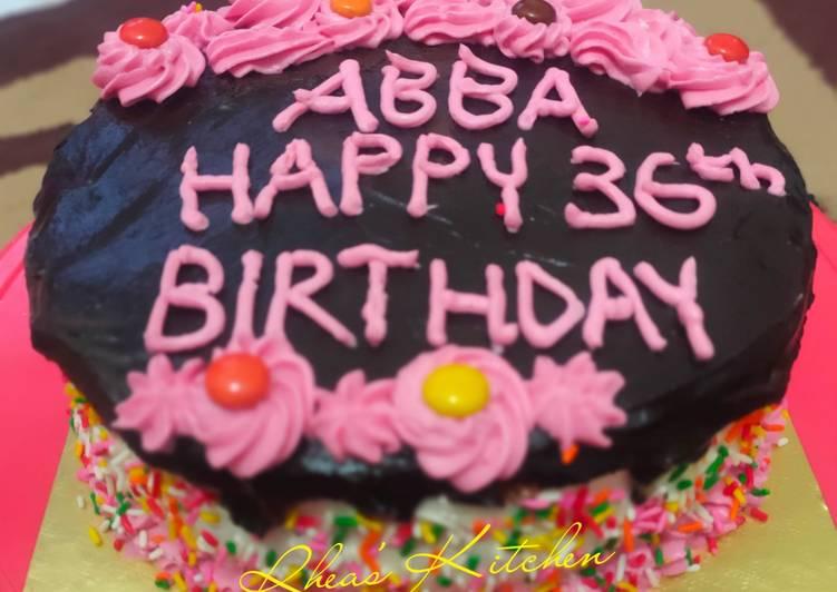 Resep: Enak Chocolate Birthday Cake