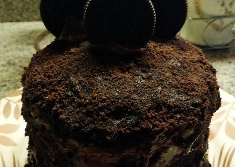 Mille crepes oreo wif vlaa coklat