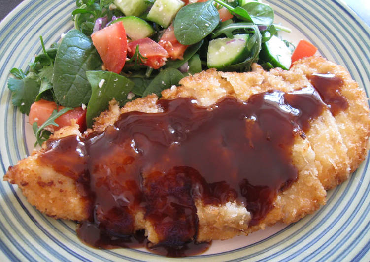 Recipe: Appetizing Chicken-katsu (Chicken Cutlet)