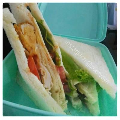 Resep 2 Roti Sandwich Bekal Anak Sekolah Oleh Kulinerteros Cookpad