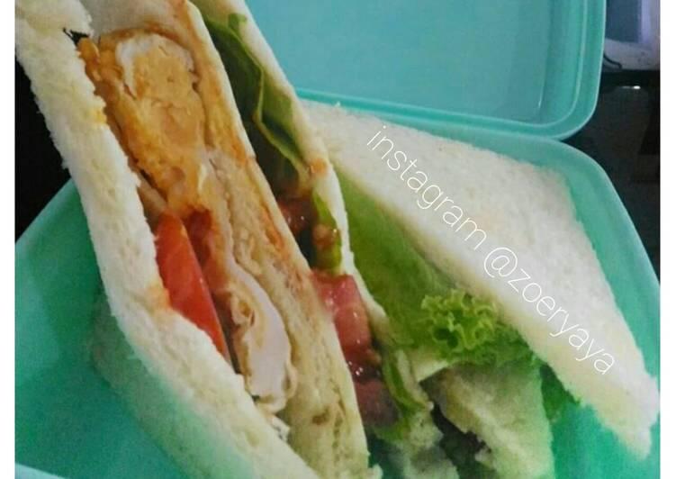Resep Roti sandwich bekal anak sekolah Paling Top