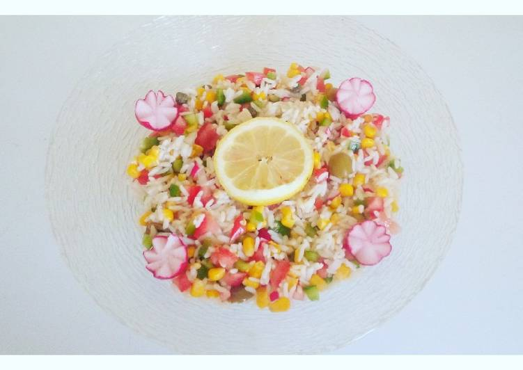 Salade de riz 🍚 rapide