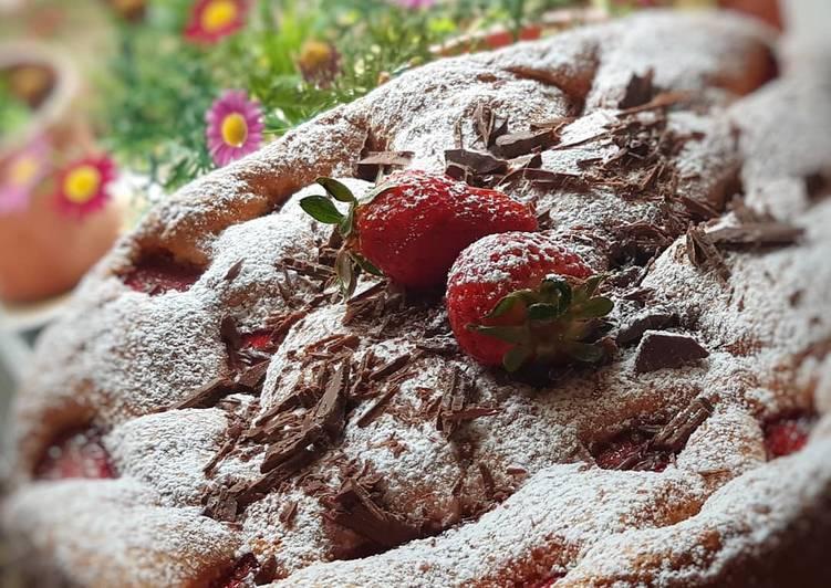 Moelleux aux fraises 🍓 un délice 👌
