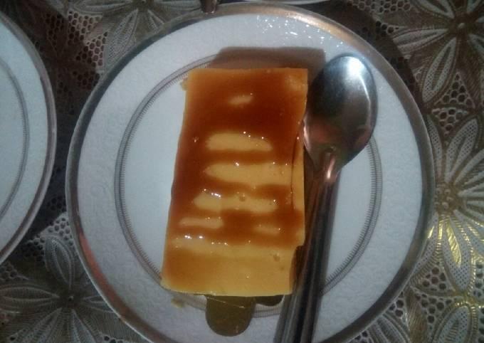 Dessert au flan et biscuit