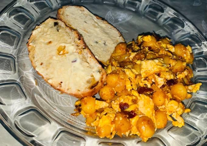 Egg fried ghnocchi
