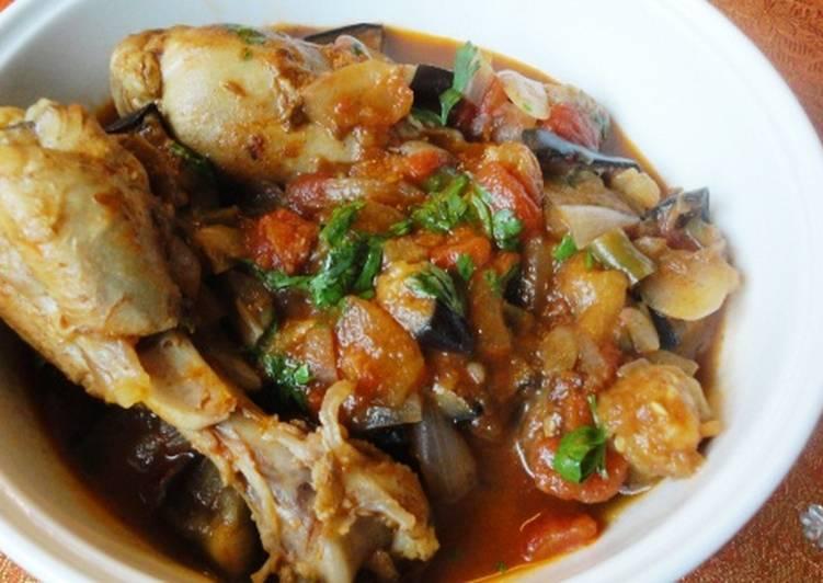 Chicken, Aubergine and Tomato Tagine