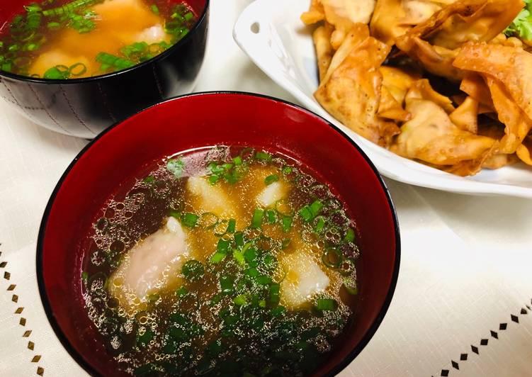 How to Make Homemade Wantan soup and Fried Wantan