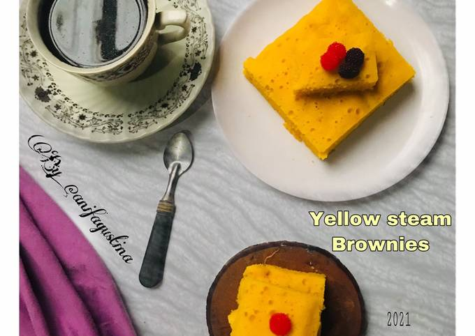 Yellow steam Brownies