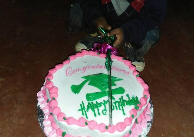 Graduation cum birthday cake