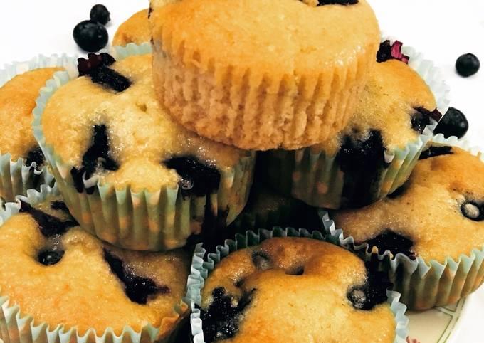 Recipe: Yummy Eggless Blueberry muffins