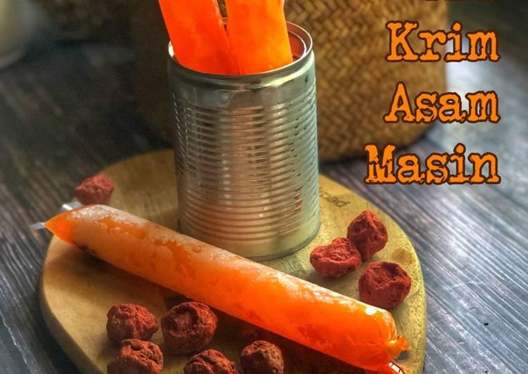 Ais Krim Asam Masin - resepipouler.com