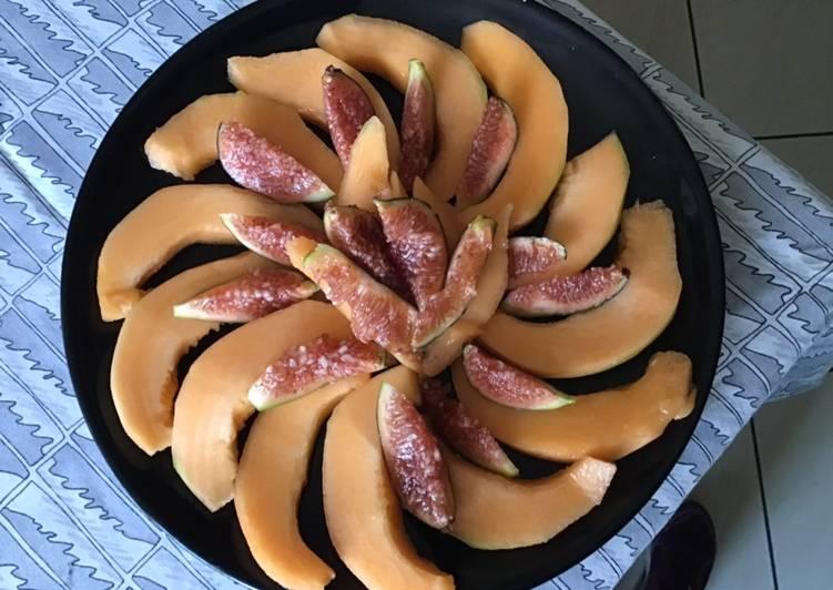Melon aux figues du jardin