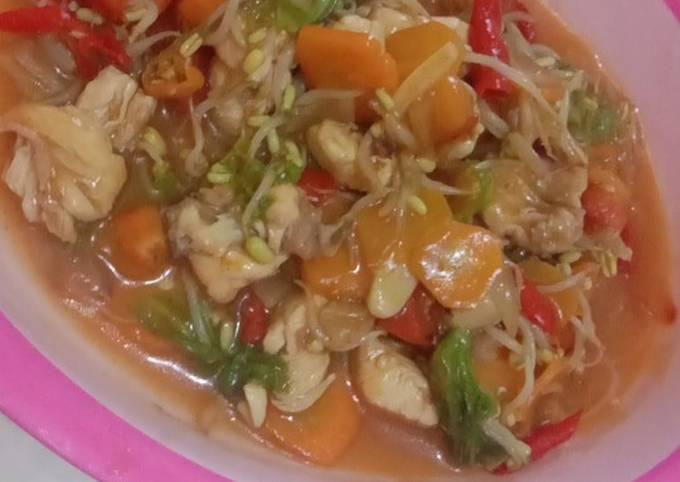 8. Ayam Sayur Asam Manis