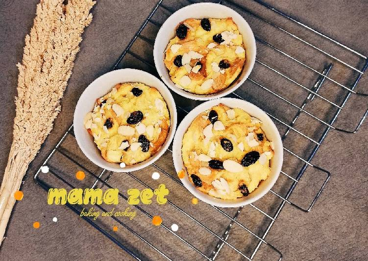 Bread pudding (kreasi roti / cemilan)