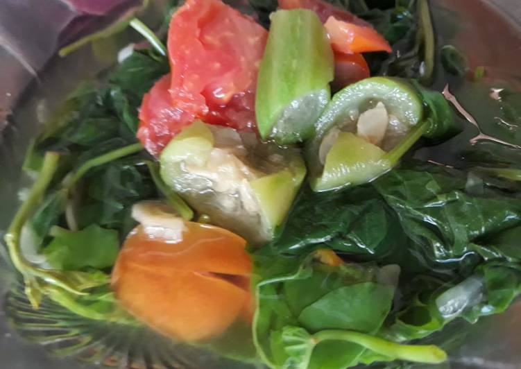 Resep Sayur Bening Oyong Daun Ubi Bumbu Kunci Yang Umum Pasti Nagih