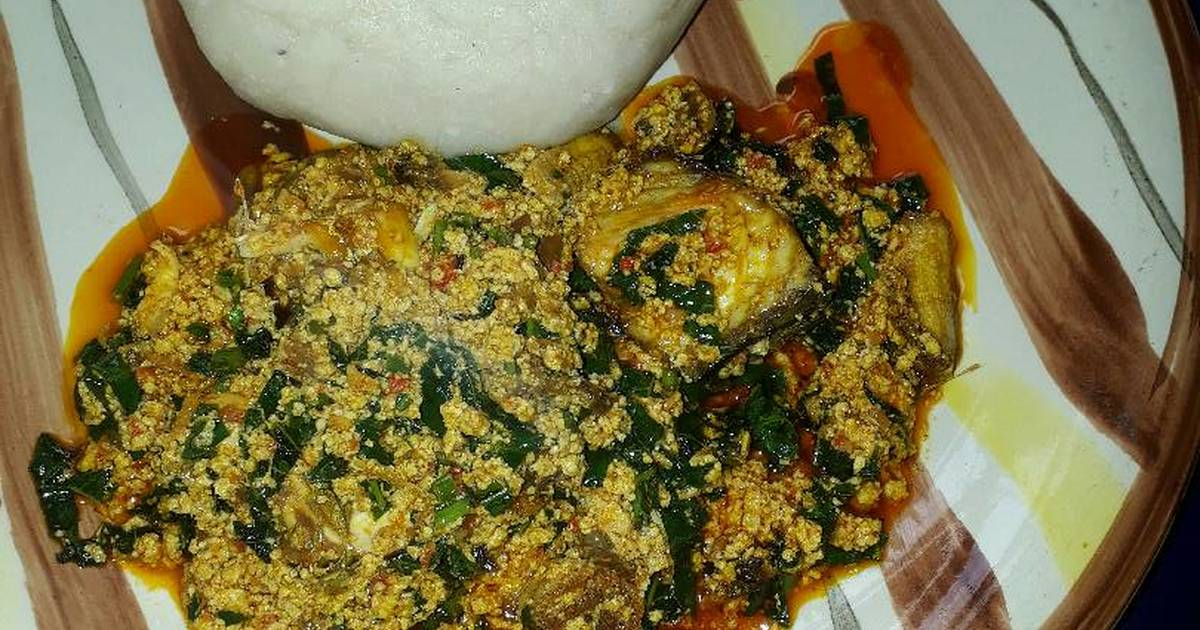 Pounded Yam And Egusi Soup Recipe By Adebola Grace Adewuyi Cookpad