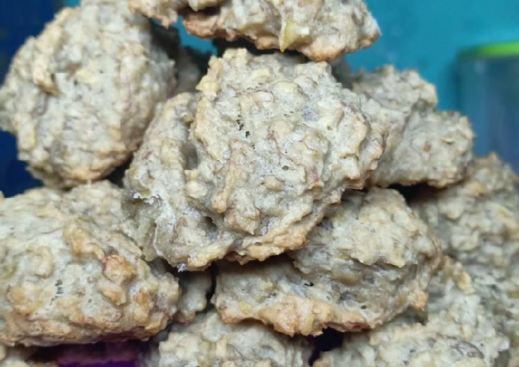 Cookies diet pisang gandum simple